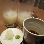 手打ち十割そば 振甫町 縁 - 長野県伊那の勘太郎と宮崎県吉兆雲海の蕎麦湯割り