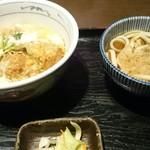 たか久総本店 - 料理写真:Bランチ(鶏カツ丼とミニうどん)