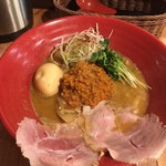 創作らーめん style林 - 料理写真:北海道風味噌らーめん(トッピングたまご) 燻製玉子売り切れのため煮玉子での提供