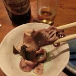 築地日本海 - お通し 味が滲みて美味し
