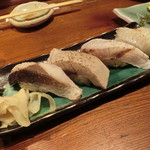 築地日本海 - 炙り三昧+えんがわ炙り
