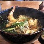 玉川庵 - 料理写真:かき・天そば ¥1,850