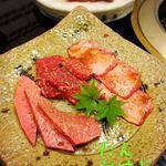 特選飛騨牛 花ざくろ - 料理写真:飛騨牛特選3種盛りコース