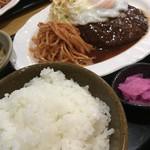 B級食堂 - 料理写真:Aランチ ハンバーグ