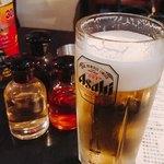 餃子家 とん吉 - やっぱり最初はビール