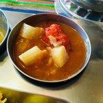 南インド家庭料理 カルナータカー - おかわりできます。たくさんもらいました。