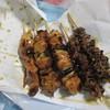 稲毛屋鳥肉店 - 料理写真:右2本が、ハツもと