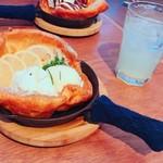 THREE SENT CHARCOAL GRILL&WINE - ランチ 追加デザート レモン&ローズマリーのダッチベイビー500円