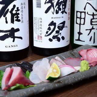 豊富な日本酒はお造りにぴったり!