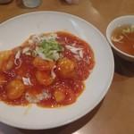 薊丘 - 料理写真:えびチリ丼 1,050円