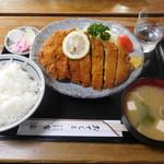 とんかつ亭有家 - 料理写真:わらじとんかつ¥1100-
