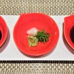 ステーキ花郷 - 『特選米沢牛サーロイン』は、藻塩、わさび醤油、ポン酢醤油で食べる~♪(* ̄∇ ̄)ノ