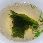 リブランド - リブランド @東葛西 ランチ定食に付く美味しい若芽スープ
