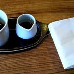 染と茶 - 卓上セッティング
