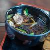 """ひびき庵 - 料理写真:""""鴨""""鴨蒸籠(かもせいらう)""""、鴨汁(かもじる)蒸籠(かもせいらう)"""""""
