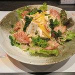 味心 その田 - 豆腐サラダ 特製ごまドレがよく合うよ