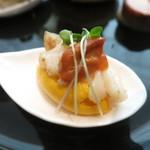 mothi-fu - 人参のムース ホッキ貝と雲丹