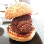 mothi-fu - 和牛のミニバーガー マッシュルーム入り
