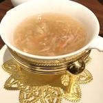 南翔饅頭店 - 蟹肉入りフカヒレスープ(ランチコース)