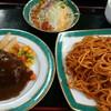 グリルストウ - 料理写真:スパゲティとハンバーグ