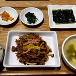韓美膳 - 韓流モーニング朝定食:680円
