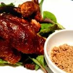 銀座 麒麟 - フランス産小鶏のパリパリ丸揚げ 中国風の燻製
