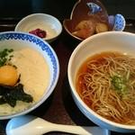 ごはんや さらし庵 - 料理写真:納豆丼+あたたかいそば 1188円(税込) ずいぶん値上がりした印象