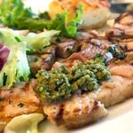 モッタポルテーニョ - 豚肉のポルケッタ(ローストポーク)チュミチュリソース