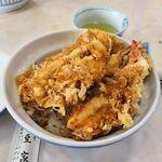 天丼 天ぷら 伊豆家 - 伊豆家本店(天丼 1,200円 ※えび・いか・魚 各1ヶ)
