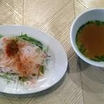 ROCCOMAN - ランチのサラダとスープ