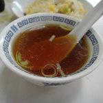 中華飯店 - チャーハンのスープ