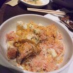 ちょい飲み酒場 イケバル - ズワイガニとエリンギ茸のオーブン焼き~カラスミ風味~