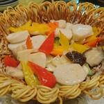 華都飯店 - 帆立と季節野菜の花籠盛り 花籠も食せます