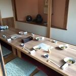Hakusui - 小上がりの席には予約客の準備が