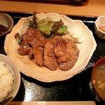 ちゅう兵衛 - 生姜焼き定食