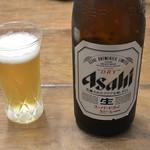 手打そば 三咲 - ドリンク写真:瓶ビール 中瓶(650円)