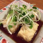 77822070 - 【'17.12】お通しの揚げ出し豆腐