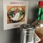 スパゲッツ ダンディ - 2017年12月11日: いつの間にやら、サラダがメニューに追加されていたらしい。10品目のサラダ 150円