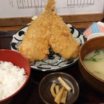 越後屋平次 - アジフライ定食 961円(税込)