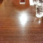 77827325 - 幅はないのに長さが1mぐらいあるテーブル 遠い(^^;)