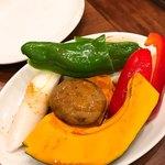 焼肉 山河 - 野菜焼き