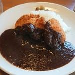 カレー オハナ - 料理写真:豚ひれカツカレー、ライス大盛、大辛