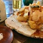Sobadosanjin - かき揚げ    サクサク、ホロリでカラッと綺麗に揚がってます❤️