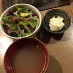 77833977 - サラダとスープ