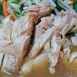 好味苑 - 好味苑 @本蓮沼 日替わりランチB 鶏肉麺の蒸し鶏
