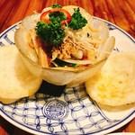 ベトナム料理コムゴン 京都 - 蓮の茎のシャキシャキサラダ