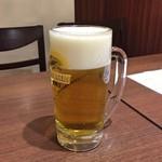 李湘潭 湘菜館 - 生ビールジョッキ(ランチ)