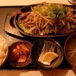 えびす亭 - 料理写真:あいらアゴ肉焼き 定食