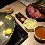 温炊き さんずい - 寒ブリつゆしゃぶ(1,490円/人×2人前)