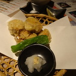 温炊き さんずい - あん肝天ぷら(842円)